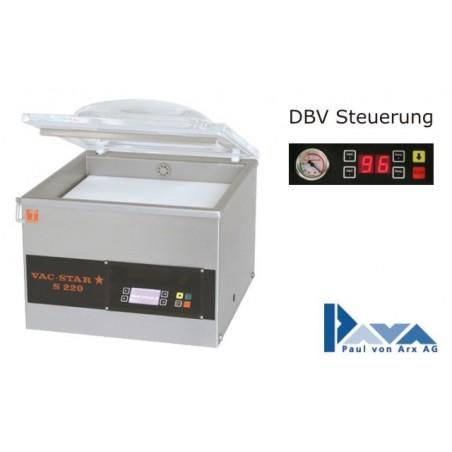 PAVA Vakuum-Verpackungsmaschine Tischmodell S 223 DBV, Basis-Modell